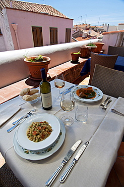 Tonno di Corsa Restaurant, Carloforte, St Pietro Island, Sulcis, Iglesiente, Carbonia Iglesias, Sardinia, Italy, Europe