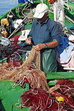 Carloforte' s fisherman, St Pietro Island, Sulcis Iglesiente, Carbonia Iglesias, Sardinia, Italy, Europe