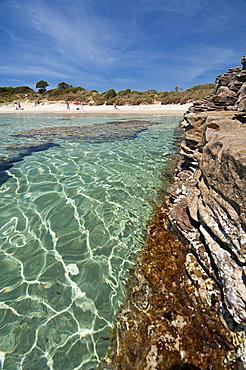 La Bobba beach, Carloforte, St Pietro Island, Sulcis Iglesiente, Carbonia Iglesias, Sardinia, Italy, Europe