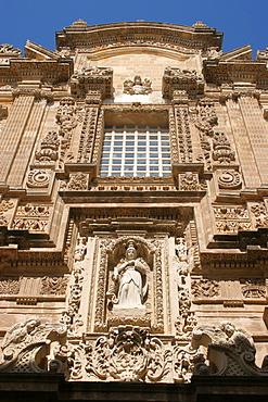 Favßade of Sant'Agata cathedral, Gallipoli, Salentine Peninsula, Apulia, Italy