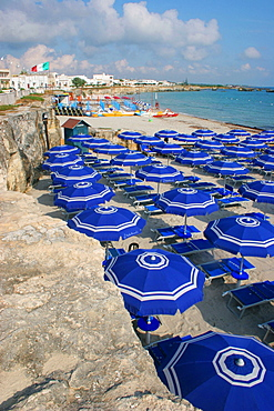 The beach, San Foca, Melendugno, Salentine Peninsula, Apulia, Italy