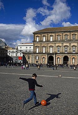 Piazza del Plebiscito, Naples city, Campania, Italy, Europe