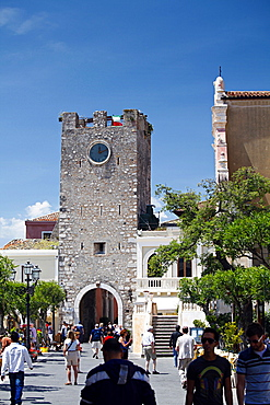 Torre dell'orologio, Taormina, Sicily, Italy, Europe
