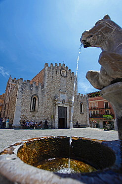 Cathedral, old town, Taormina, Sicily, Italy, Europe