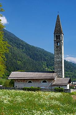 Sant Antonio Abate church of Pelugo in Rendena valley, Trentino, Italy, Europe