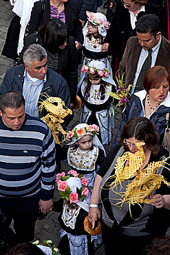 San Pier Niceto, village, Easter procession, Sicily, Italy, Europe
