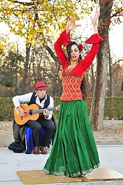 Artists in Buen Retiro Park, Madrid, Spain, Europe