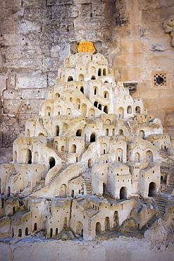 Sassi miniature in Matera, Lucania,Basilicata, South Italy, Italy, Europe