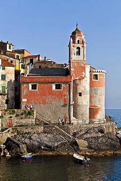 Church of San Giorgio, Tellaro, Golfo dei Poeti, Ligury, Italy, Europe