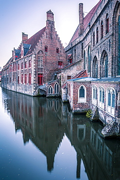 Houses and canals, Bruges, Belgium, Europe