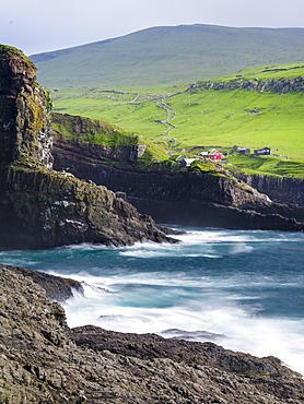 The island Mykines, part of the Faroe Islands in the North Atlantic, Denmark, Northern Europe