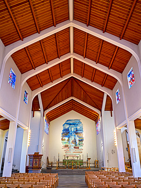 Skalholt cathedral, interior, the religious center of the iclandic church.  europe, northern europe, scandinavia, iceland,  February