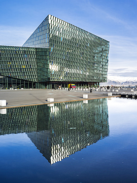 Reykjavik, Harpa, the new convert hall and conference center (inaugurated in 2011). The buidling is considered to be one of the new architectural icons of Iceland. europe, northern europe, iceland,  February