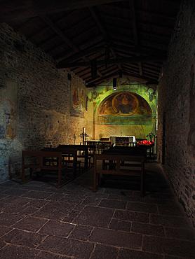 San Giovanni Battista XI century curch, historical center, Varenna, Lake Como, Lombardy, Italy, Europe