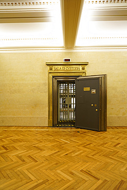 The old bank vault, Gallerie d'Italia is the exhibition spaces created by Intesa Sanpaolo Banca and the Fondazione Cariplo, Piazza alla Scala square, Milan, Lombardy, Italy, Europe