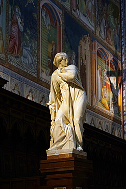 The Madonna Announced, 17th century statue by Francesco Mochi, Cathedral Basilica of Santa Maria Assunta is the main Catholic place of worship in Orvieto, and a masterpiece of Gothic architecture in Central Italy, Umbria, Italy, Europe