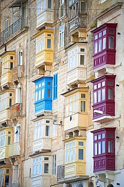 La Valletta, Capital of Culture 2018, Typical Balcony, Malta Island, Mediterranean Sea, Europe