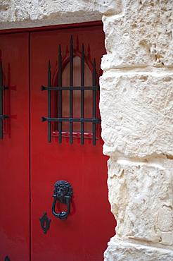 Door, detailed, Medina, LMdina, Malta Island, Mediterranean Sea, Europe