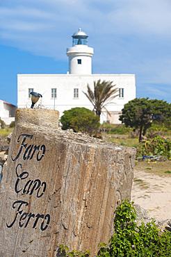 Capo Ferro Lighthouse, Costa Smeralda, Arzachena, Sardinia, Italy, Europe