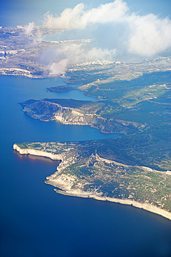 Aerial View, West Cost, Malta Island, Mediterranean Sea, Europe