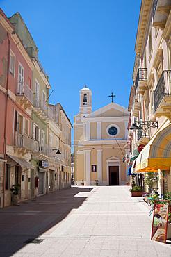 San Carlo Borromeo Church, Carloforte, Island of San Pietro, Sardinia, Italy, Europe