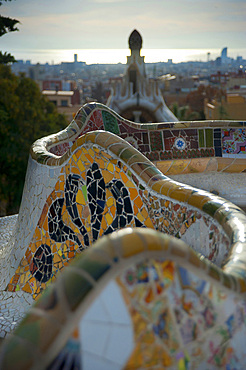Parc Güell, Barcelona, Catalonia, Spain, Europe