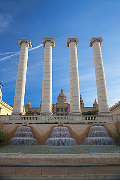 Four Columns fountain, Font màgica de Montjuïc, Barcelona, Catalonia, Spain, Europe