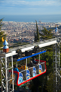 Landscape, view from Tibidabo, Barcelona, Catalonia, Spain, Europe