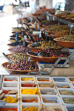 Olives and spices, Ajaccio, Corse, France, Europe