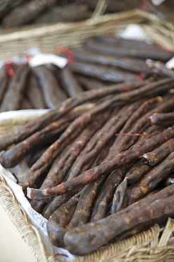 Typical sausage, Ajaccio, Corsica, France, Europe