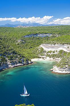 Plage de l'Arinella beach, Bonifacio, South Corse, France, Europe