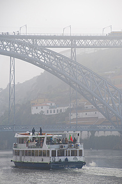 Bridge Ponte Dom Louis I, City Porto (Oporto) at Rio Douro. The old town is listed as UNESCO world heritage. Portugal, Europe