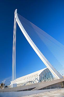 Assut de l'Or Bridge, Ciutat de les Arts i les Ciències, Valencia, Spain, Europe