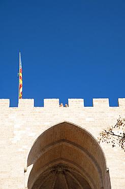 Porta de Serrans, Plaça dels Furs, Valencia, Spain, Europe