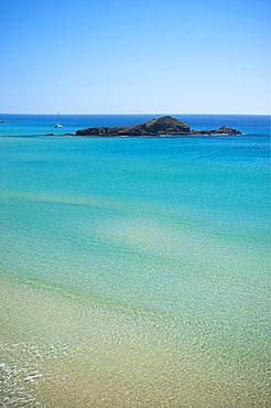 The rock of Su Giudeu, Cape Spartivento, Chia, Domus de Maria, Sardinia, Italy, EuropeGiudeu; Spartivento; Chia; Sardinian; Sea; Sand; Beach; Coast; South; Pond; Lagoon; Horizontal