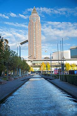 Messeturm, Fair Tower, Frankfurter Buchmesse, Frankfurt Book Fair, Frankfurt, Hesse, Germany, Europe