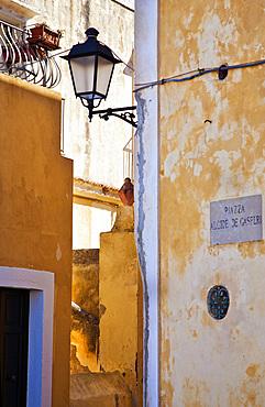 Piazza Alcide De Gasperi square, Ventotene island, Pontine Islands, Lazio, Italy, Europe