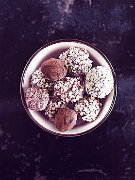 Hazelnut truffes cookies, Italy, Europe