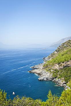 Coast on the Tyrrhenian Sea near Maratea, Basilicata, Italy, Europe