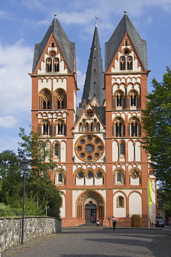 The twin towers of the Cathedral at Limburg, Germany, Europe
