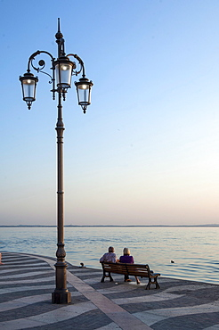 Evening, Lazise, Lake Garda, Italian Lakes, Lombardy, Italy, Europe