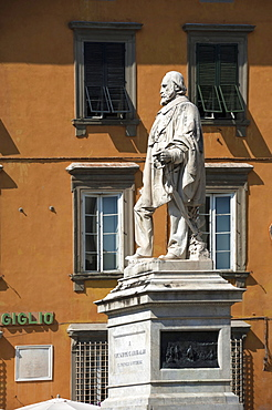 Statue of Garibaldi, Lucca, Tuscany, Italy, Europe
