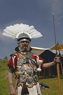 Roman re-enactment, Walltown, Northumberland, England, United Kingdom, Europe