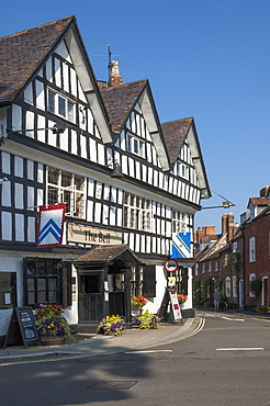 Half timbered historic Inn on Church Street, Tewkesbury, Gloucestershire, England, United Kingdom, Europe