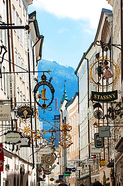 Getreidegasse, Street of Signs, Salzburg, Austria, Europe