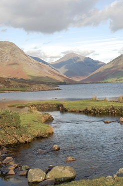 Lake Wastwater, Great Gable, Wasdale Valley, Lake District National Park, Cumbria, England, United Kingdom, Europe