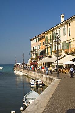 Harbourside, Lazise, Lake Garda, Veneto, Italy, Europe