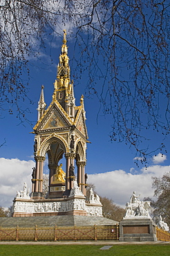 The Albert Memorial, Kensington Gardens, London, England, United Kingdom, Europe