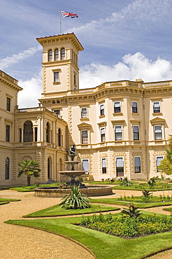 The home of Queen Victoria and Prince Albert, Osborne House, Isle of Wight, Hampshire, England, United Kingdom, Europe
