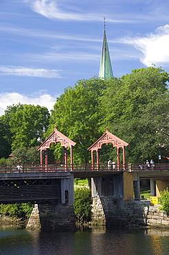 Bybrua bridge across the Nidelva, Trondheim, Norway, Scandinavia, Europe